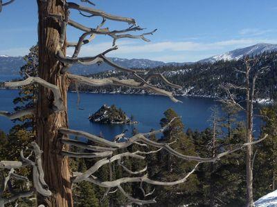 Gorgeous Emerald Bay is just 15-20 minutes away. Photo taken by owner's son.