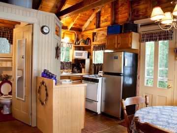 Kitchen Area - All the necessities, including the Lobster Pot!