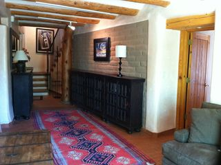 Santa Fe house photo - Gallery downstairs. Master Bedroom to right. Guest bedroom to left