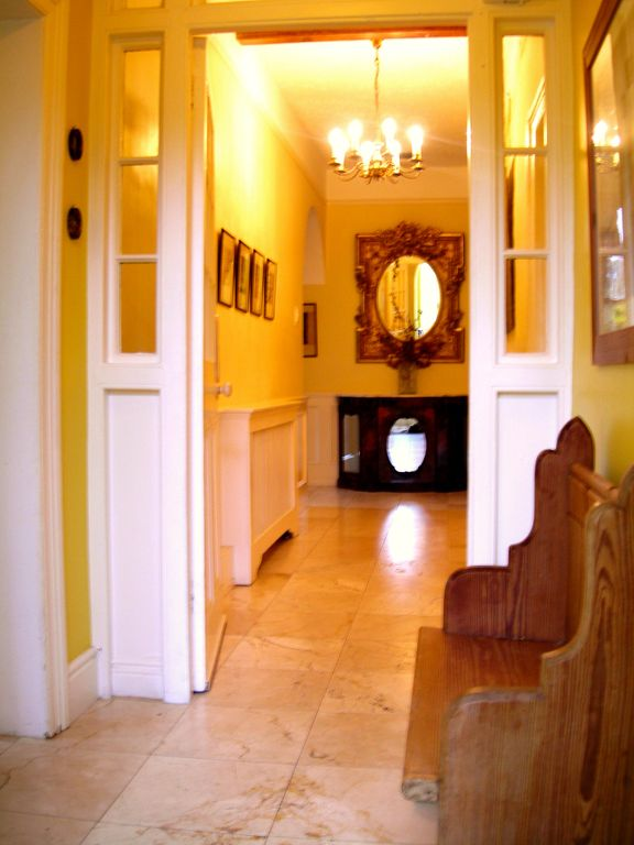 The main hallway from the front porch