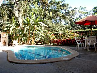 Playa Flamingo house photo - Private Pool With Entertainment Deck, Outdoor Shower and Bathroom Facilities