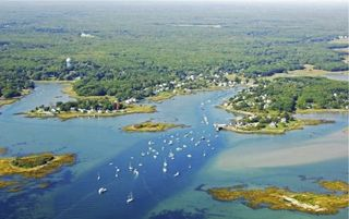 Kennebunkport cottage photo - Aerial view of cottage and Cape Porpoise