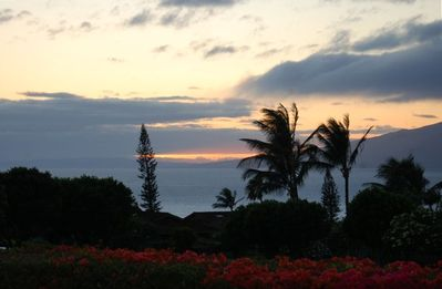 Enjoy amazing sunsets each night on your private lanai (Hawaiian patio)