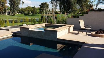 Palm Springs villa rental - Pool, Hot tub and extended decking....brand new Nov 2014