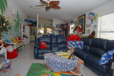 Cocoa Beach house rental - #1 Beach house- Enjoy your time in the colorful living and dining room.