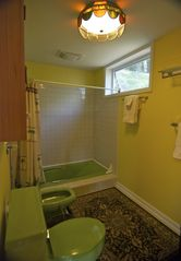 Banner Elk house photo - Master bath...the color grows on you :)