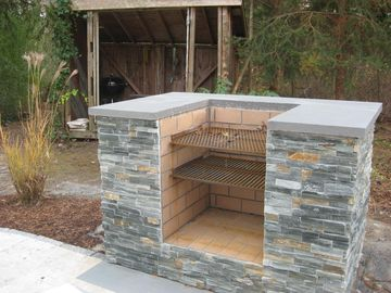 Outdoor Fireplace With Cooking Grill NEW Patio Outdoor Charcoal ...