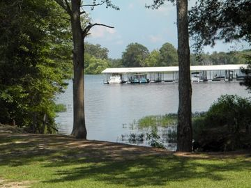 Weiss Lake house rental - From the Lake home veiw of Bay Springs Marina from the dock