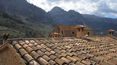 View of the Mirador across the roofs.