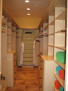 First Master Suite walk-in closet