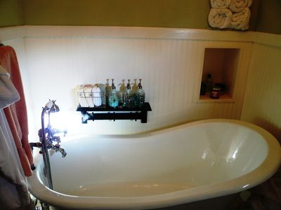 Claw-foot tub in the Cottage