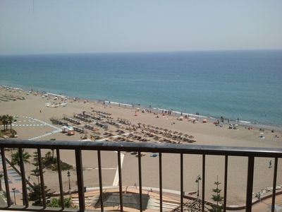Torremolinos apartment rental - Beach front views from terrace