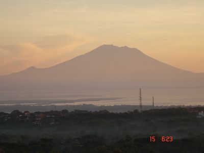 Nusa Dua house rental - Gunung Agung 3031m Majestically sits in plain sight over 40 miles from the house