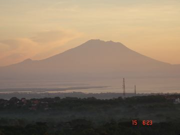 Gunung Agung 3031m Majestically sits in plain sight over 40 miles from the house