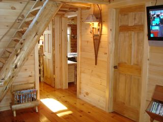 stairs to loft - Colton cottage vacation rental photo