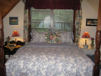 Bryson City cabin rental - The view from the 4-poster bed is unbelievable!