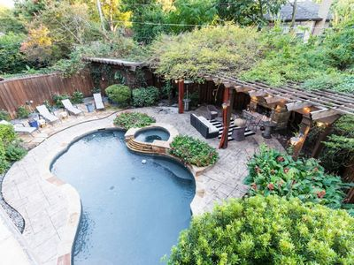Exquisite & Very Rare Modern Tudor in the Heart of Dallas with Backyard Oasis