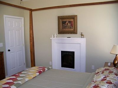 Master bedroom on first floor w/fireplace
