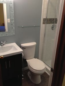 Newly remodeled upper level bathroom