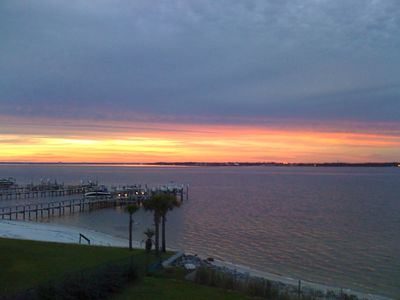 Pensacola Beach condo rental - Another spectacular view from the balcony on a late summer afternoon