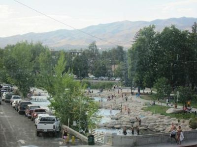 Summer fun on the whitewater&pond sections of the Truckee, as seen from LR