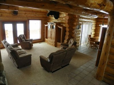 Custom built log home. Logs up to 20 inches.