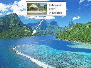 Robinson's Cove is right in stunning Opunohu bay, Moorea. - Moorea bungalow vacation rental photo