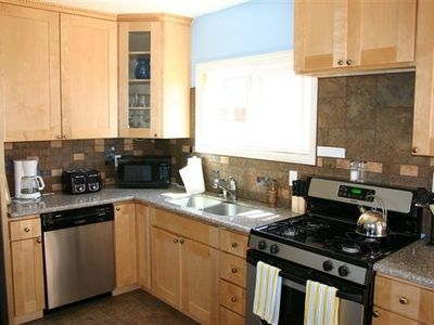 Brand new kitchen granite and stainless steel appliances