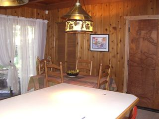 Carnelian Bay cabin photo - Table expands another 2 leaves.