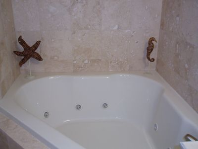 Garden Tub in Master Bathroom, as Well as Separate Shower