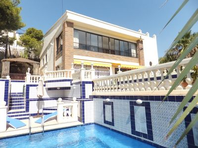 El Campello villa rental - FRONT OF VILLA WITH POOL