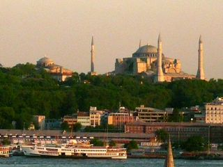 Istanbul apartment photo - Small slice of a huge view of Sultanahmet from roof terrace above
