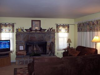 Pigeon Forge chalet photo - Cozy warm fire for those chilly mountain nights