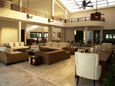 Huge interior living space. Great for large parties.