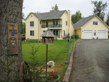 Wasilla house rental - The driveway up to your vacation rental. Serenity awaiting you.