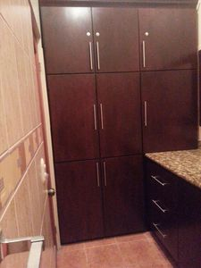 Custom Wood Cabinets and Vanity