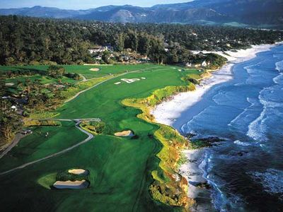 The famous Pebble Beach Golf Course