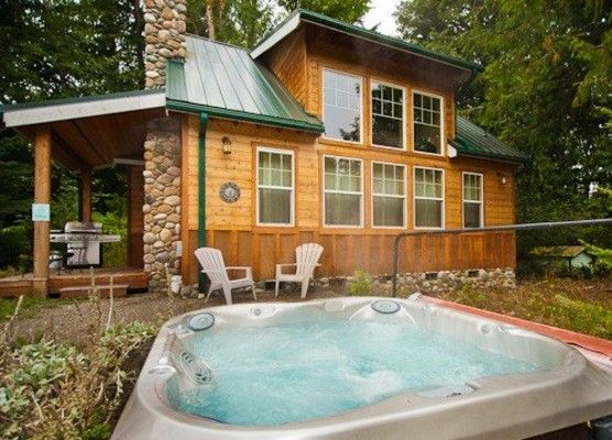 11 mt baker rim cabin private hot tub vrbo for Cottages with sauna and hot tub