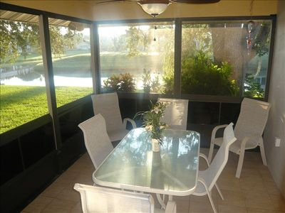Plantation villa rental - Beautiful views from the screened Lanai.