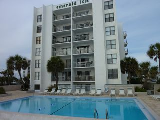 Swimming pool below our balcony. - Fort Walton Beach condo vacation rental photo