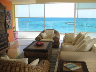 Breathtaking view from living area.  Captivating!  Stare at the ocean all day!