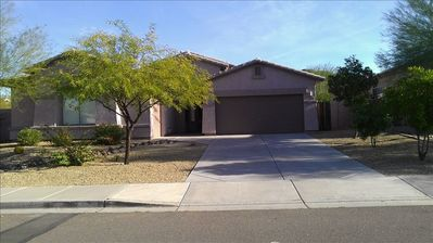 Enjoy a home on a corner lot and very quiet neighborhood in Estrella!