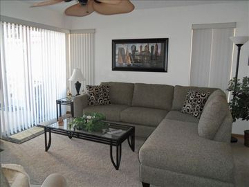 New comfy couches to sit back and relax on while enjoying the view of the lake!!