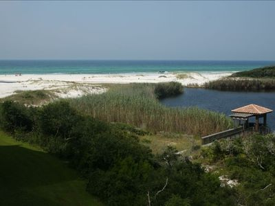 View From 38 Foot Long. Balcony Overlooks Big Redfish Lake & Gulf Of Mexico