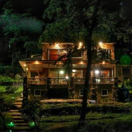 Lake Hopatcong house rental - View of the house at night