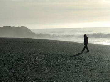 walk on the black sands beach- a short distance from the house