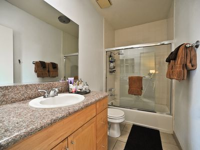 En Suite Bathroom in Master Bedroom has full shower and bath