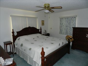 Master Bedroom with king bed and large closet
