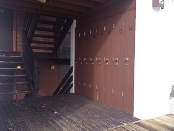 Ski Locker on Base Level at Entrance to Tensleep Building A