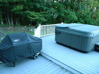 Ludlow house photo - Hot Tub and Grill on the Wraparound Deck.